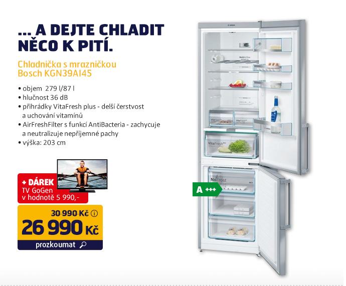 Chladnička s mrazničkou Bosch KGN39AI45