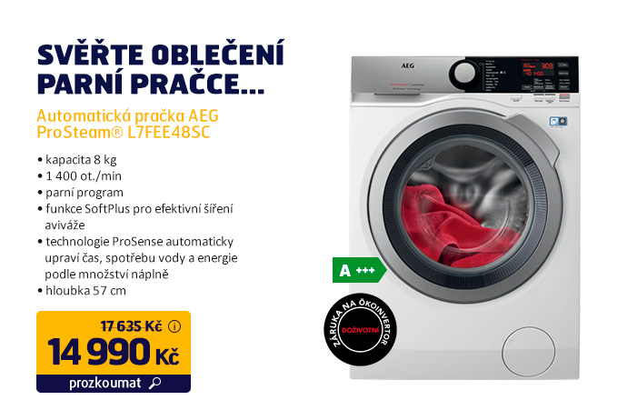 Automatická pračka AEG ProSteam® L7FEE48SC