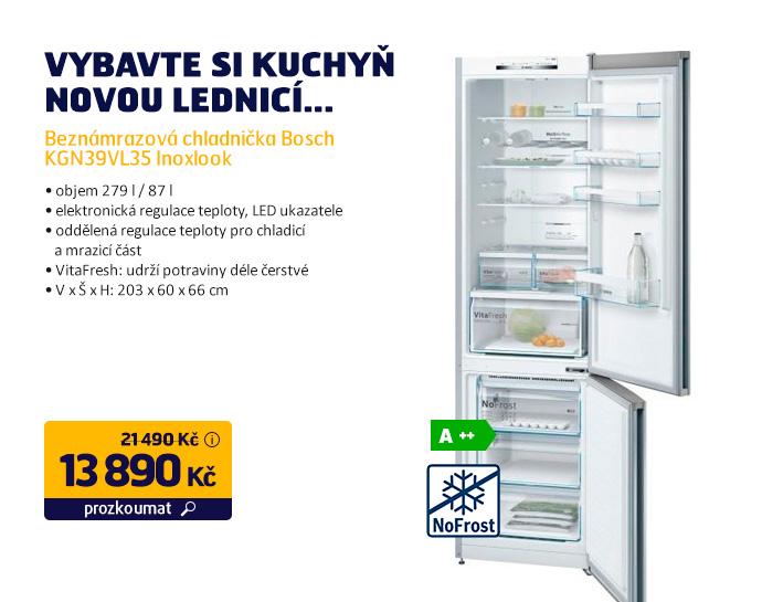 Beznámrazová chladnička Bosch KGN39VL35 Inoxlook
