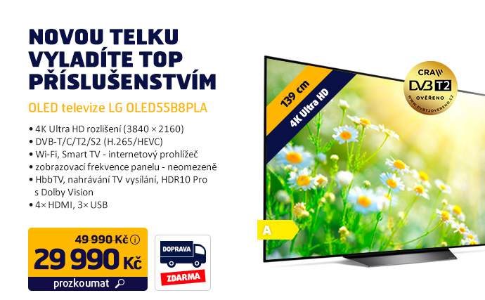 OLED televize LG OLED55B8PLA