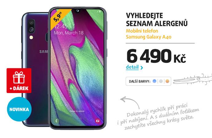 Mobilní telefon Samsung Galaxy A40