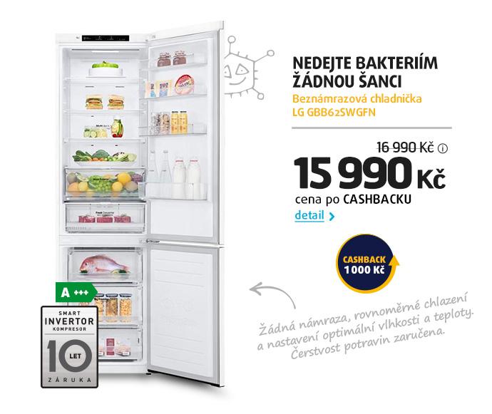 Beznámrazová chladnička LG GBB62SWGFN
