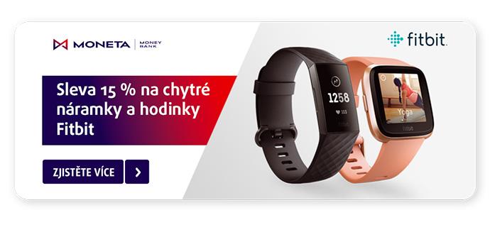 15 % Fitbit s kartou Moneta