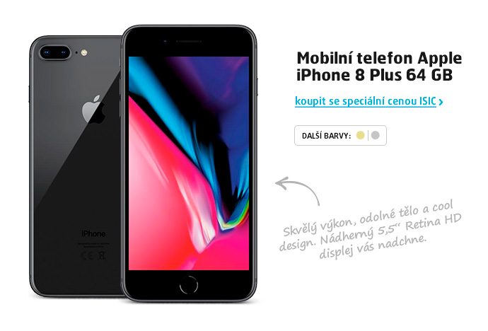 Mobilní telefon Apple iPhone 8 Plus 64 GB