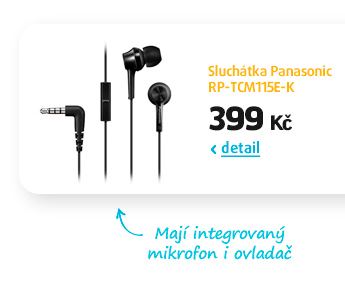 Sluchátka Panasonic RP-TCM115E-K