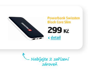 Powerbank Swissten Black Core Slim