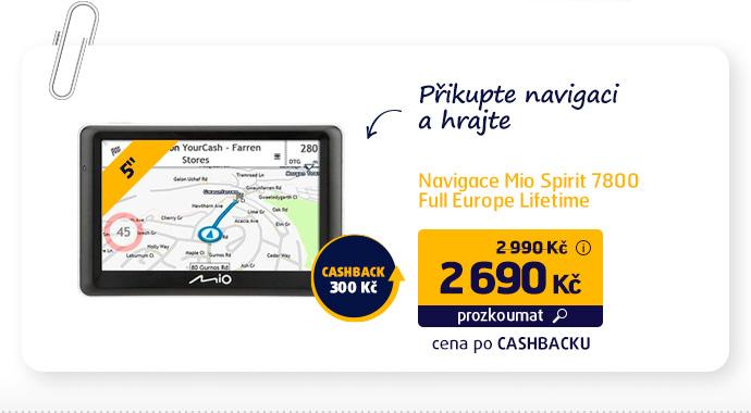Navigace Mio Spirit 7800 Full Europe Lifetime