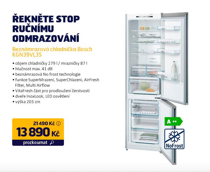 Beznámrazová chladnička Bosch KGN39VL35
