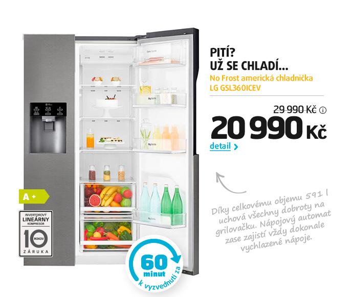 No Frost americká chladnička LG GSL360ICEV