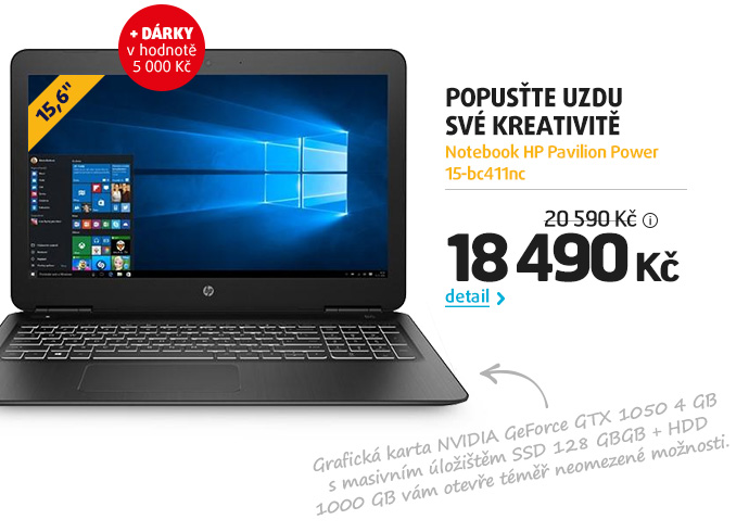 Notebook HP Pavilion Power 15-bc411nc