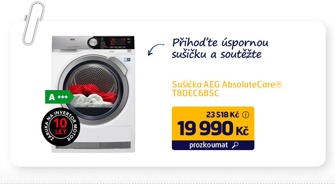 Sušička AEG AbsoluteCare® T8DEC68SC