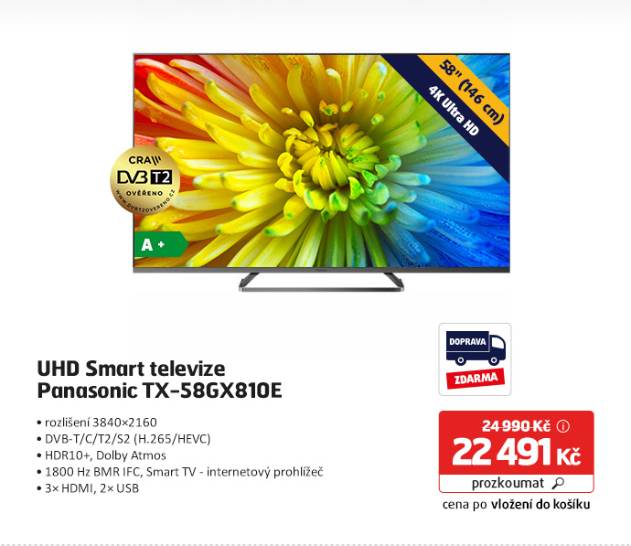 UHD Smart televize Panasonic TX-58GX810E