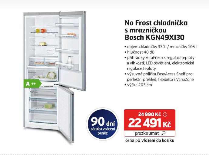 No Frost chladnička s mrazničkou Bosch KGN49XI30