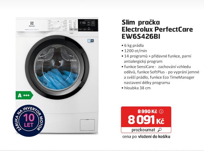 Slim pračka Electrolux PerfectCare EW6S426BI