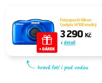 Fotoaparát Nikon Coolpix W100 modrý