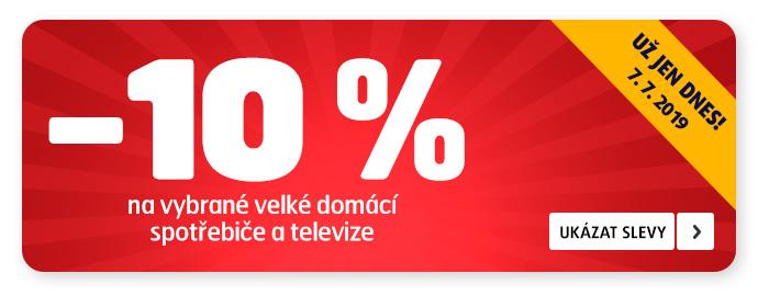 10 % SLEVA NA VYBRANÉ MDA A TV