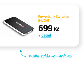 Powerbank Swissten iNLIGHT