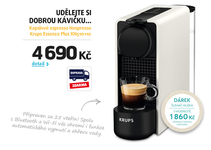 Kapslové espresso Nespresso Krups Essenza Plus XN510110