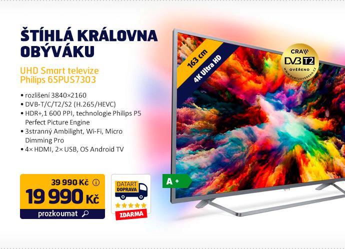 UHD Smart televize Philips 65PUS7303