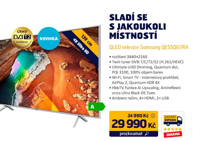 QLED televize Samsung QE55Q67RA