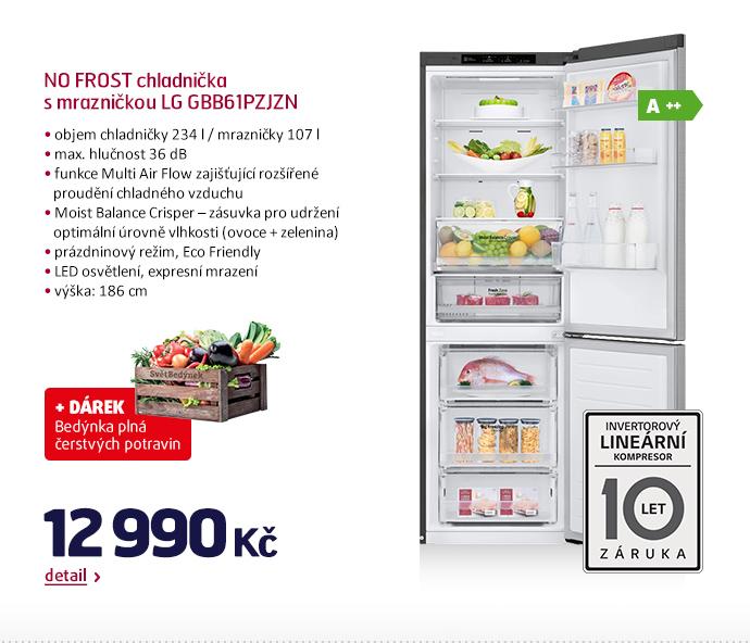 NO FROST chladnička s mrazničkou LG GBB61PZJZN