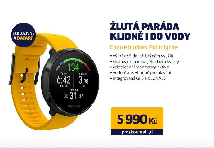 Chytré hodinky Polar Ignite - žlutá