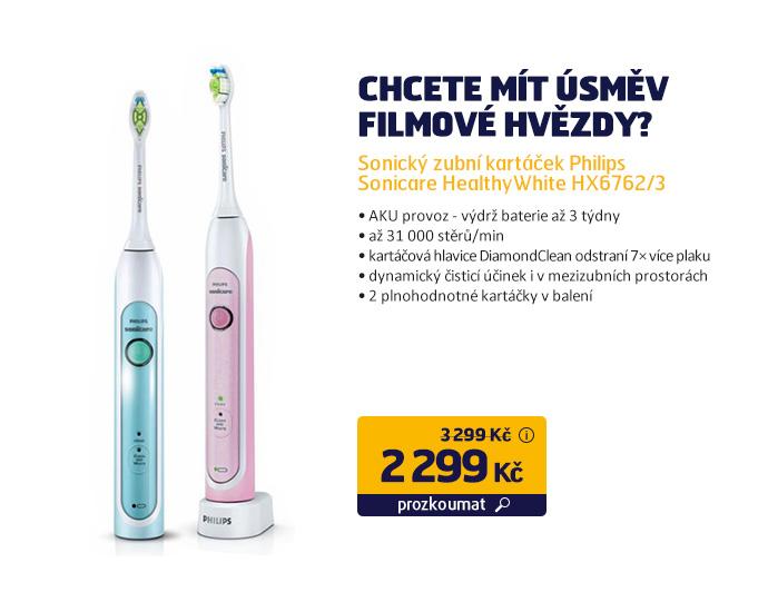 Sonický zubní kartáček Philips Sonicare HealthyWhite HX6762/3
