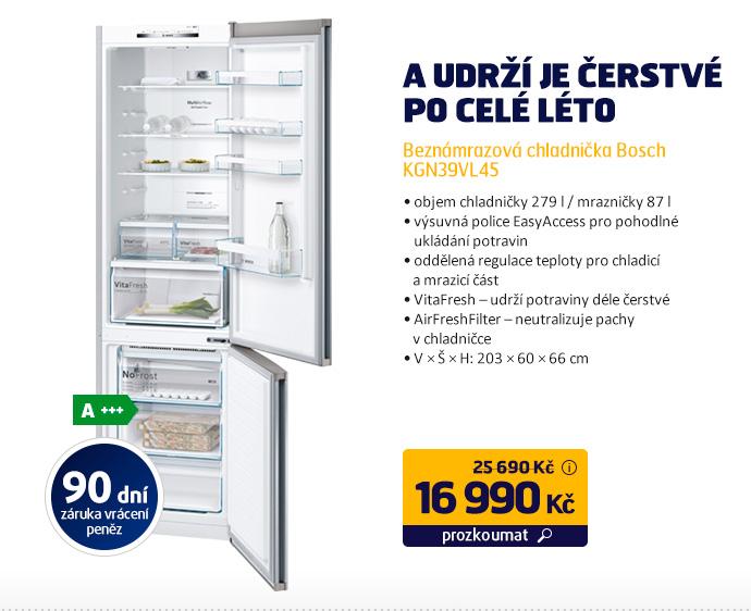 Beznámrazová chladnička Bosch KGN39VL45