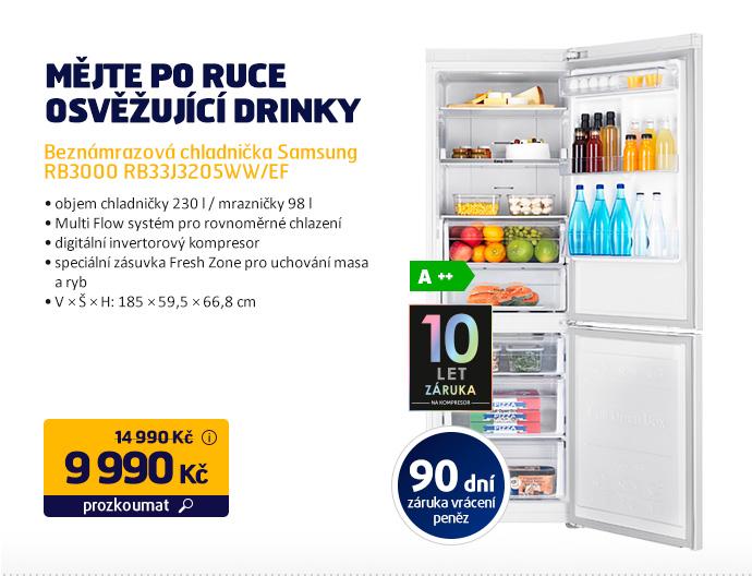 Beznámrazová chladnička Samsung RB3000 RB33J3205WW/EF