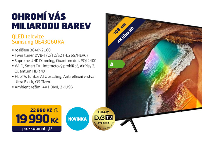 QLED televize Samsung QE43Q60RA
