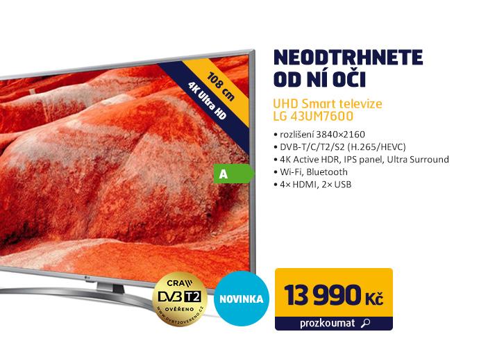 UHD Smart televize LG 43UM7600
