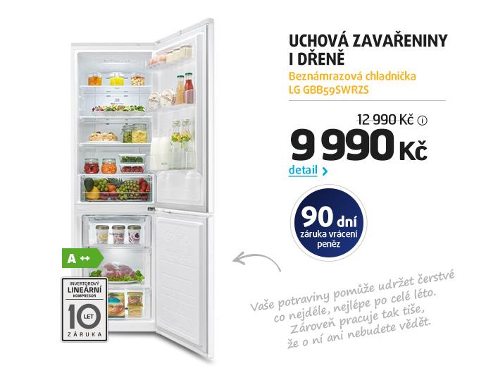 Beznámrazová chladnička LG GBB59SWRZS