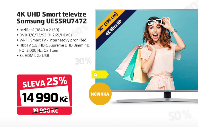 4K UHD Smart televize Samsung UE55RU7472