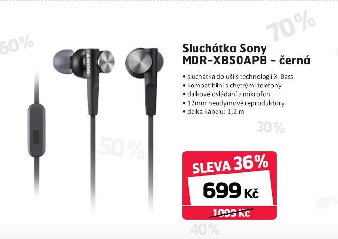 Sluchátka Sony MDR-XB50APB - černá