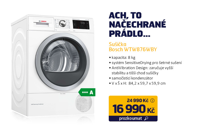 Sušička Bosch WTW876WBY