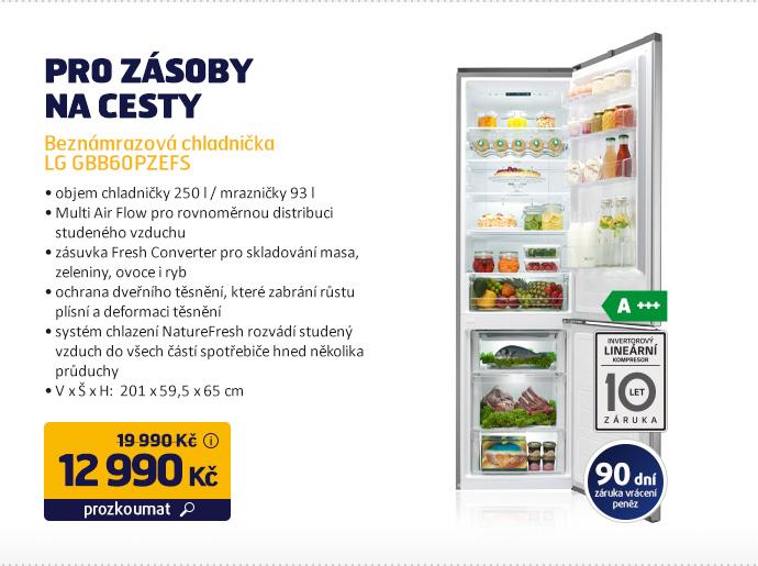 Beznámrazová chladnička LG GBB60PZEFS