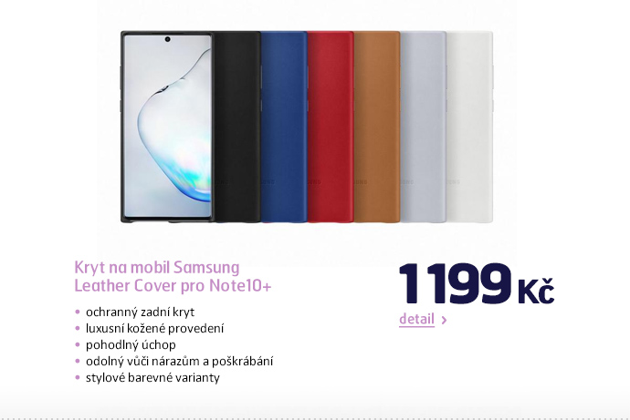 Kryt na mobil Samsung Leather Cover pro Note10+