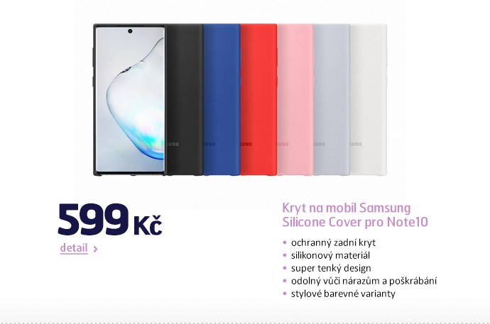 Kryt na mobil Samsung Silicone Cover pro Note10