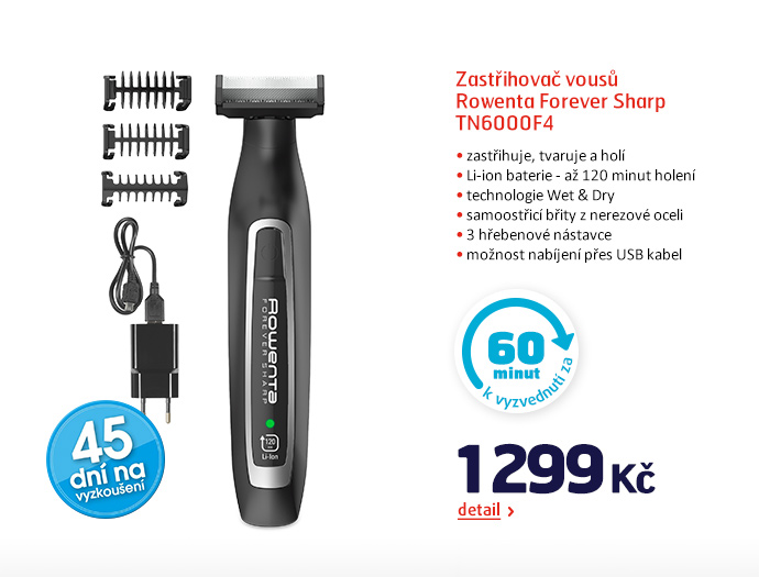 Zastřihovač vousů Rowenta Forever Sharp TN6000F4