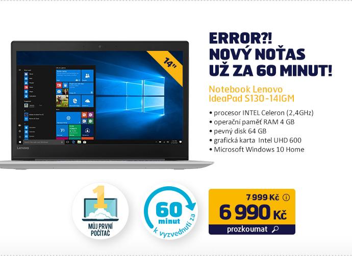 Notebook Lenovo IdeaPad S130-14IGM