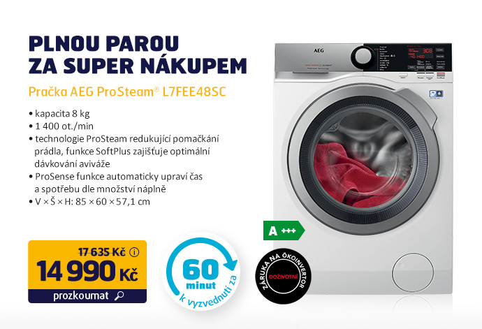 Pračka AEG ProSteam® L7FEE48SC