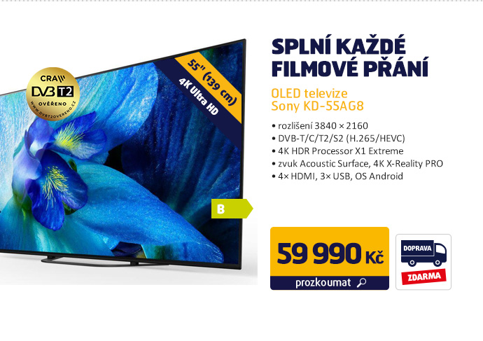 OLED televize Sony KD-55AG8