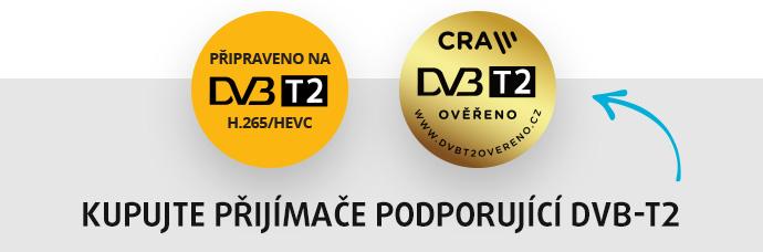 text: Kupujte přijímače podporující DVB-T2
