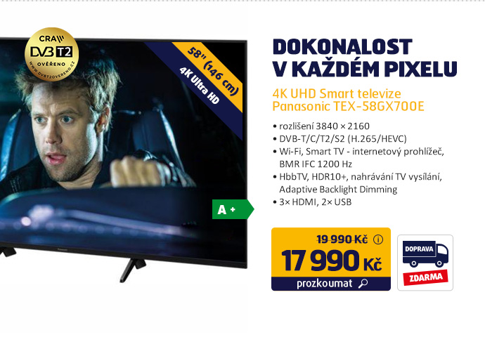 4K UHD Smart televize Panasonic TX-58GX700E