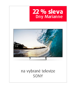 22% sleva na vybrané televize SONY
