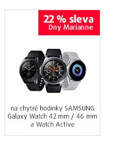 22% sleva na vybrané chytré hodinky SAMSUNG GALAXY