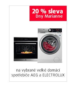 20% sleva na vybrané velké domácí spotřebiče AEG a ELECTROLUX