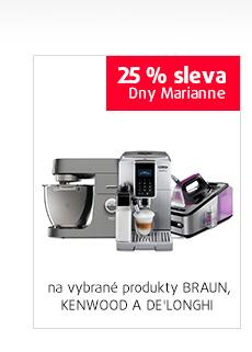 25% sleva na vybrané produkty DE'LONGHI, KENWOOD A BRAUN