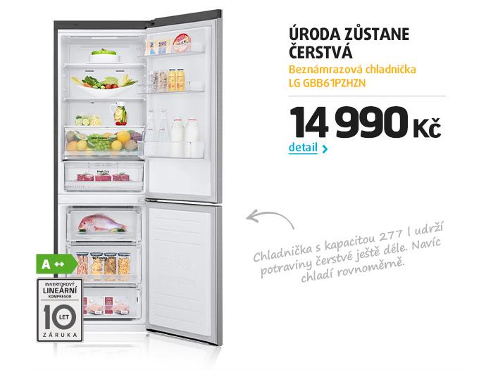 Beznámrazová chladnička LG GBB61PZHZN