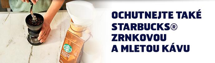 Ochutnejte také STARBUCKS zrnkovou a mletou kávu